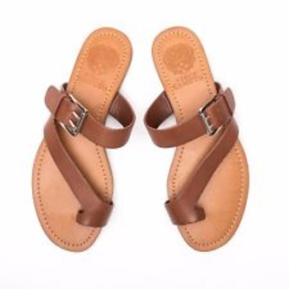 Vince Camuto Tan Tranell Flat Sandals